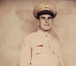 Carl Good in uniform in WWII